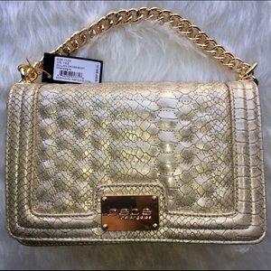 bebe Gold Crossbody Bag